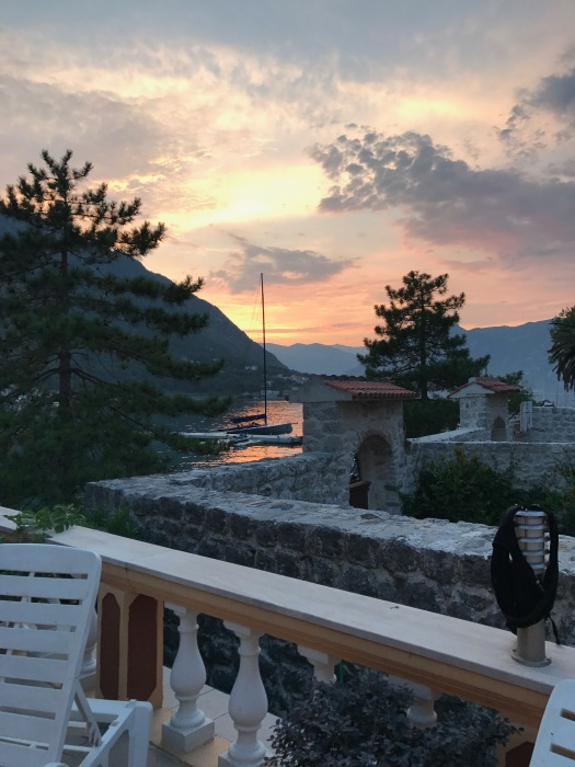 Suset in the Bay of Kotor