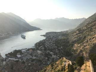 Sunset in the Bay of Kotor
